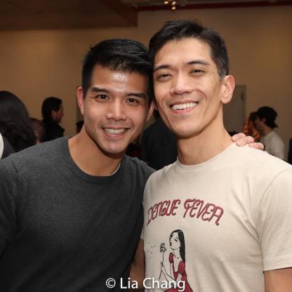Telly Leung and Moses Villarama. Photo by Lia Chang