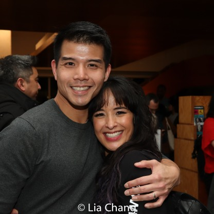 Telly Leung and Courtney Reed. Photo by Lia Chang