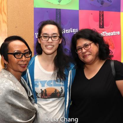 Emilya Cachapero, Lauren Yee and Suzette Porte. Photo by Lia Chang