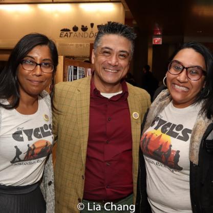 Natasha Sinha, Ariel Estrada and Maya Shah. Photo by Lia Chang