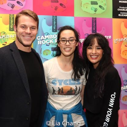 Brock Harris, Lauren Yee, Courtney Reed. Photo by Lia Chang