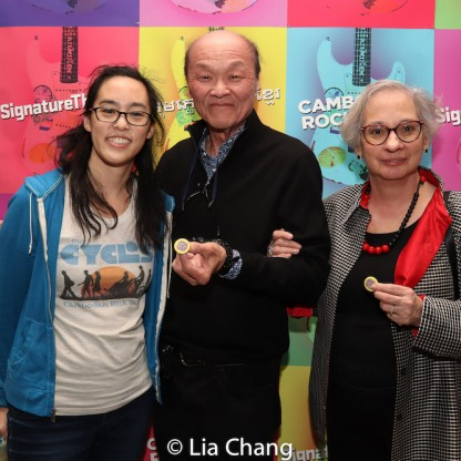 Lauren Yee, Henry Yuk and his wife, Holly. Photo by Lia Chang