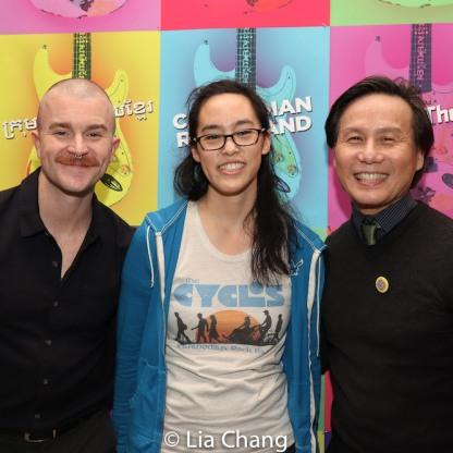 Richert Schnorr, Lauren Yee and BD Wong. Photo by Lia Chang
