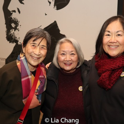 ENDLINGS castmates Wai Ching Ho, Virginia Wing and Emily Kuroda. Photo by Lia Chang