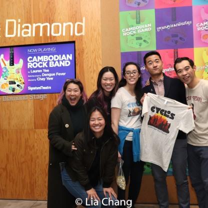 Diana Oh, Jeena Yi, Shannon Tyo, Lauren Yee, Daniel K. Isaac and Joe Ngo. Photo by Lia Chang
