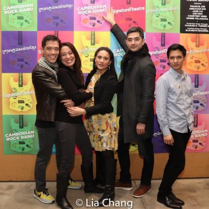 Moses Villarama, Jaygee Macapugay, Diane Phelan, Kevin Schuering and Michael Protacio. Photo by Lia Chang