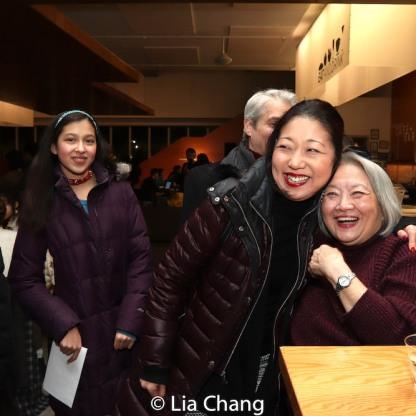 Avelina Sanchez, Lainie Sakakura, and Virginia Wing. Photo by Lia Chang