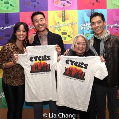 Courtney Reed, Daniel K. Isaac, Virginia Wing and Moses Villarama. Photo by Lia Chang