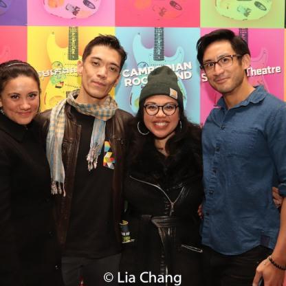 Moses Villarama, Maria-Christina Oliveras and Hansel Tan. Photo by Lia Chang