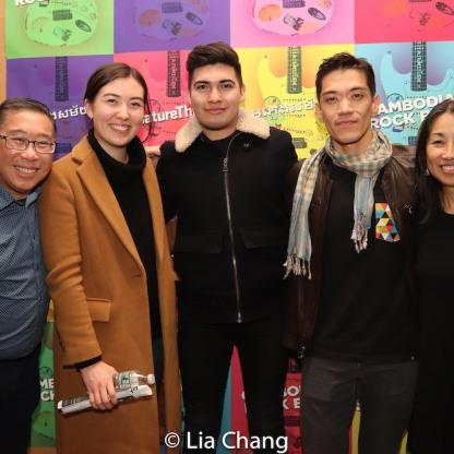 Gary Ng, Celine Gauchey, AJ Manuel Lucero, Moses Villarama, Linda Chin Workman. Photo by Lia Chang