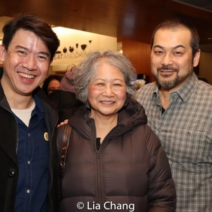 Kenneth Lee, Jo Yang and David Shih. Photo by Lia Chang