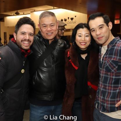 Adam Gwon, Chay Yew, Deborah S. Craig and Joe Ngo. Photo by Lia Chang