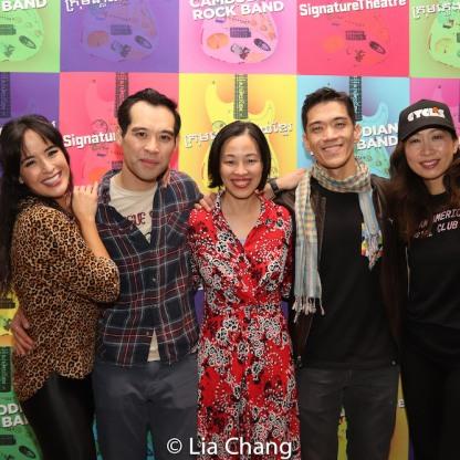 Courtney Reed, Joe Ngo, Lia Chang, Moses Villarama and Jane Lui. Photo by Lia Chang