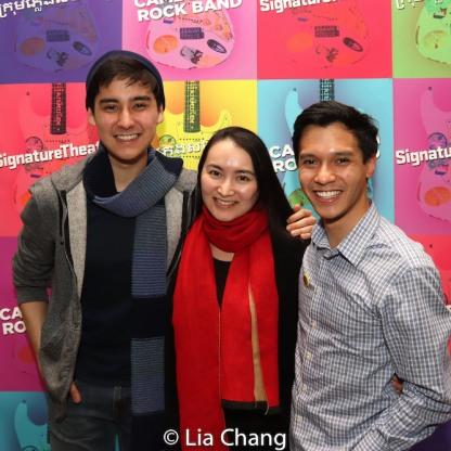 Ellis Gage, Xiaoqing Zhang and Michael Protacio. Photo by Lia Chang