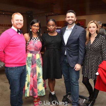 A guest, Natasha Sinha, Antoinette Nwandu, Graham Schmidt, Adrienne Campbell Holt. Photo by Lia Chang