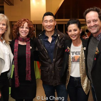 Pam Rubly, Lori Kinlaw, Daniel Dae Kim, Tamlyn Tomita, Daniel Blinkoff. Photo by Lia Chang