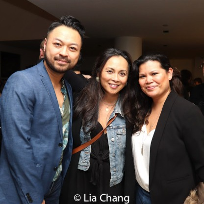 Billy Bustamante, Ernabel Demillo, Liz Casasola. Photo by Lia Chang