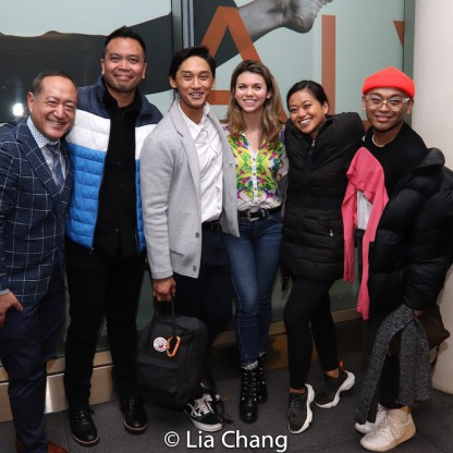 Alan Muraoka, Jose Llana, Josh Dela Cruz, Amanda Phillips, Renee Abulario, Jeigh Madjus. Photo by Lia Chang