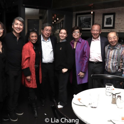 Lucy Kan, Jason Ma, Baayork Lee, Victor Kan, Cassie Kivnick, Linda Sanchez, Gregory Ho, Larry Lee, Harry Lin. Photo by Lia Chang
